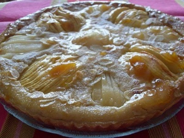Tarte amandine, pommes poires (Vegan)