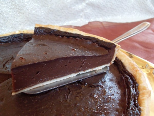 Tarte au flan, chocolat noir (Vegan)