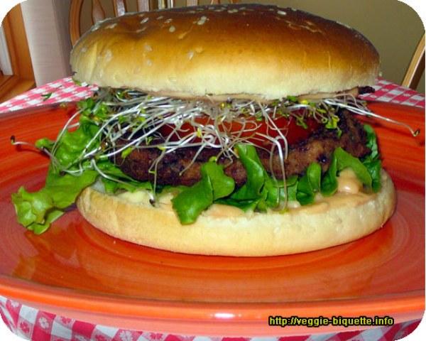 Vegan Burger aux graines germées