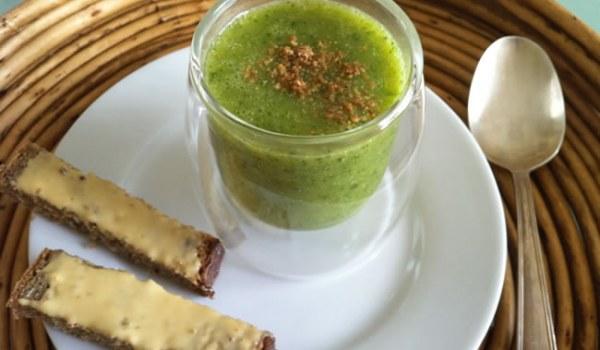 Velouté de courgettes au quinoa et au basilic