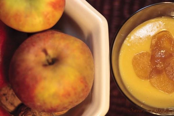 Verrine à la pomme et au gingembre