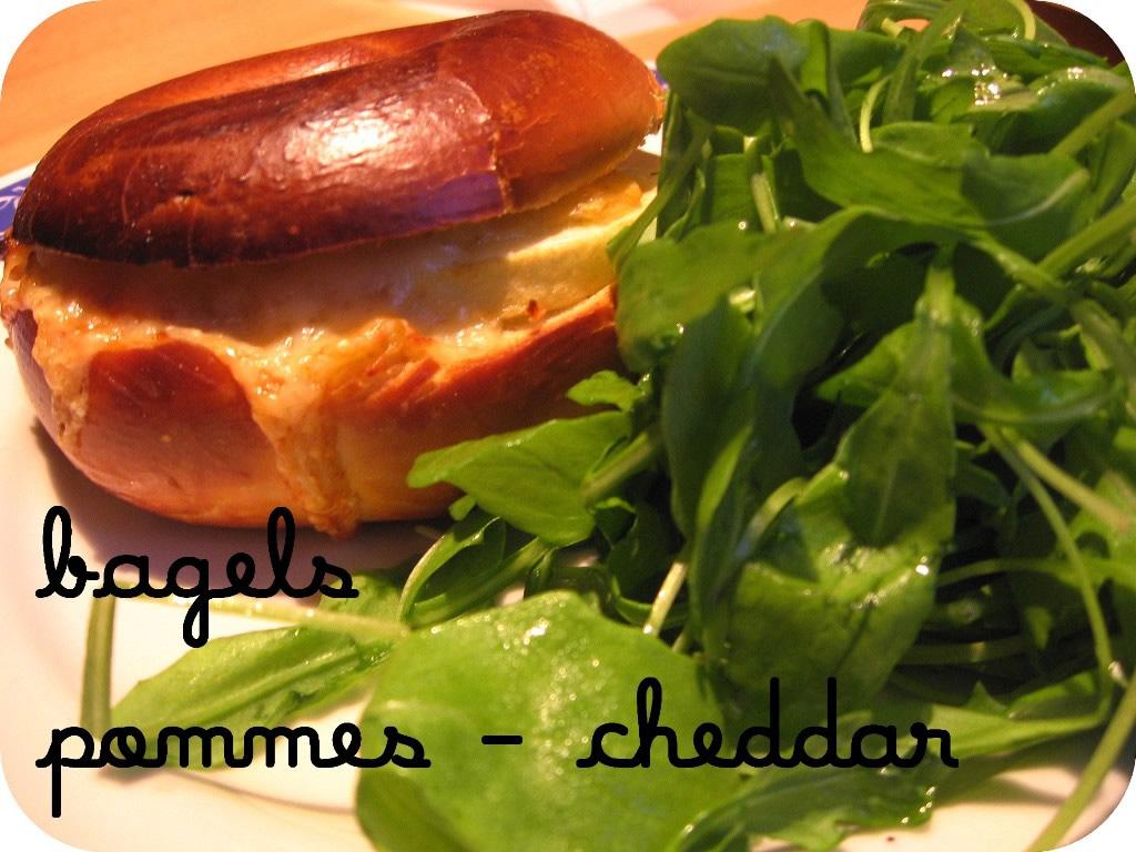 Bagel Pommes-Cheddar