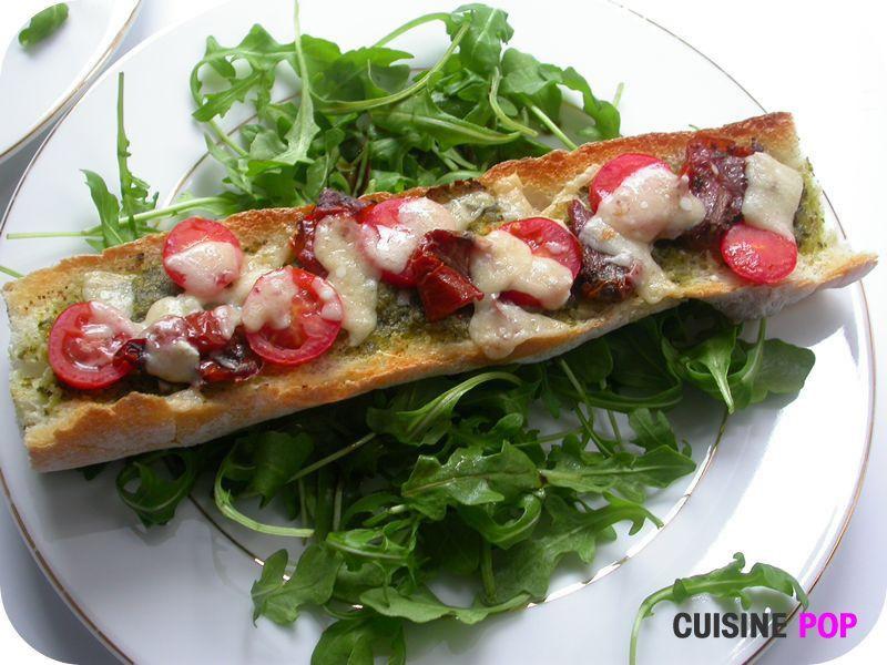 Baguette Pesto-Tomates