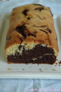 Cake marbré chocolat-citron
