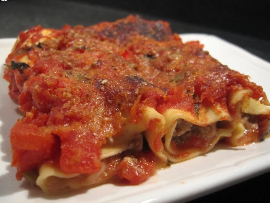 Cannellonis en farce d'aubergine