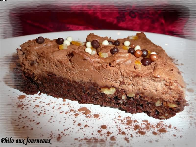 Brownie à la mousse au chocolat