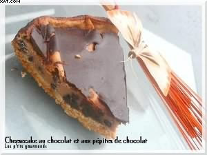 Cheesecake au chocolat & pépites de chocolat