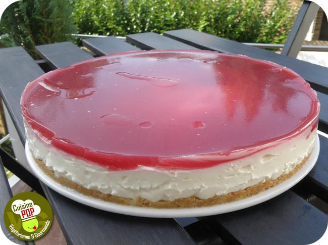 Cheesecake Au Citron Miroir Framboise Pauses Gourmandes