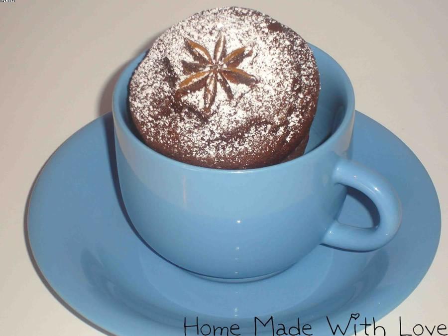 Chocolate muffins étoilés