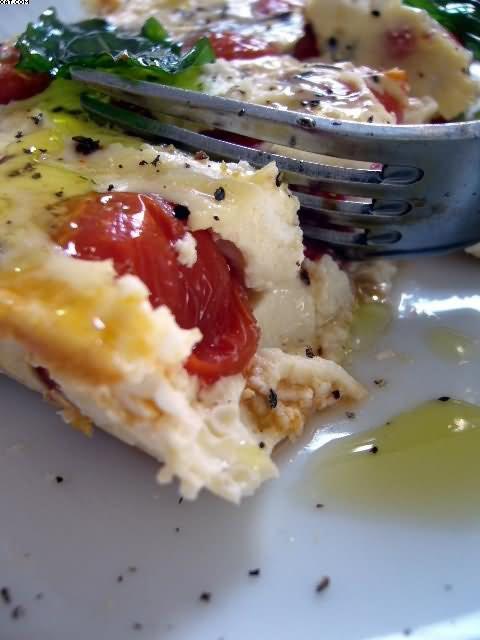 Clafoutis aux tomates et fromage de chèvre