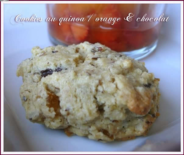 Cookies au quinoa, Orange & Chocolat