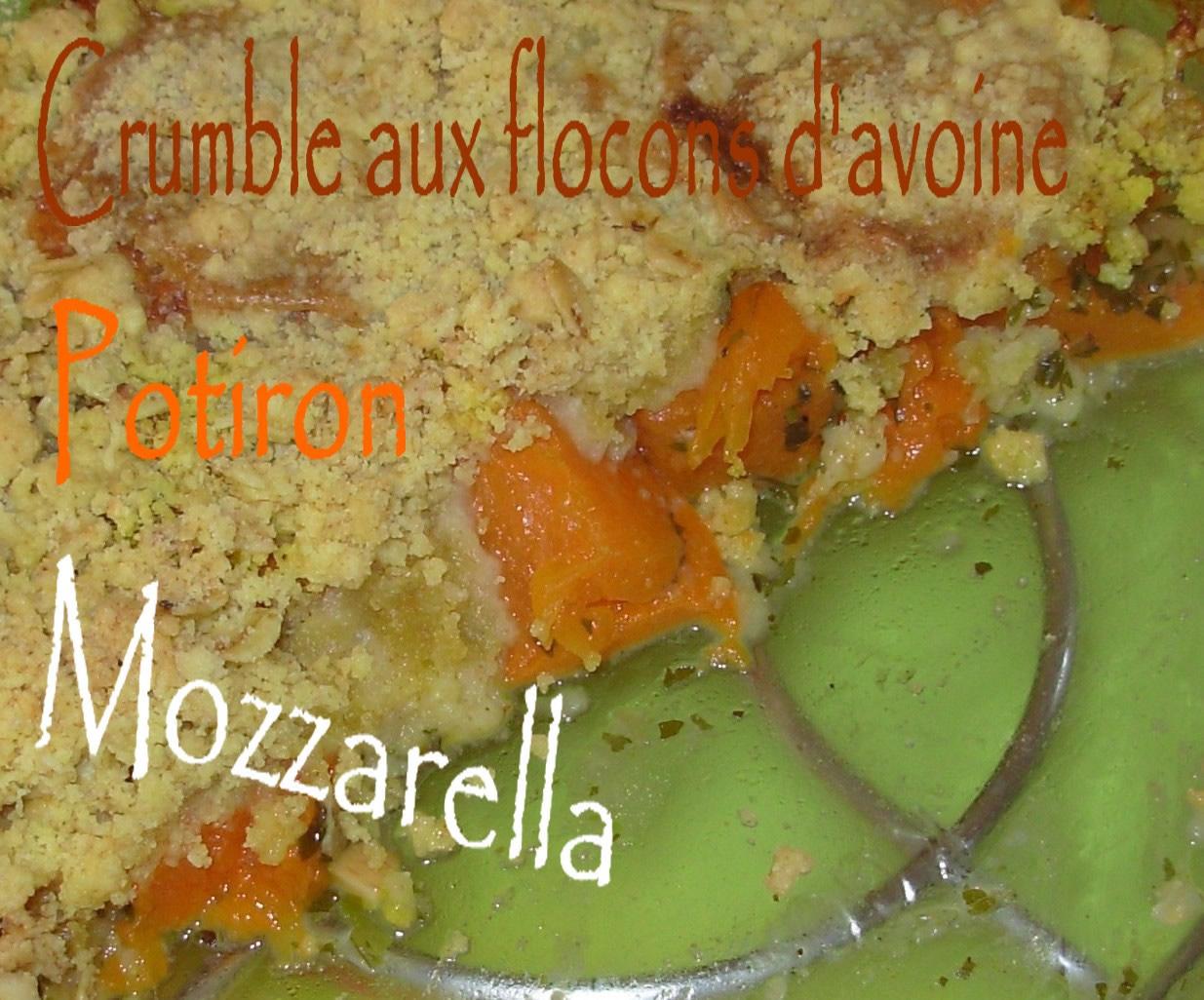Crumble de flocons d'avoine au potiron