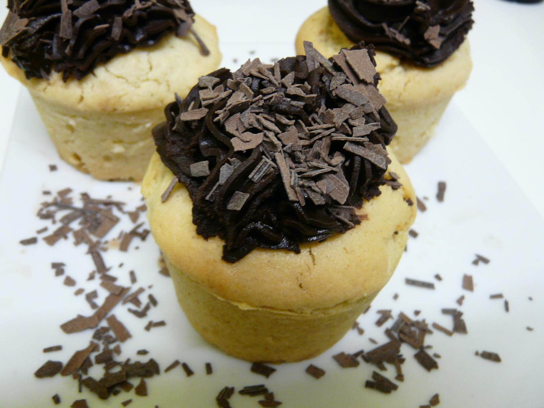 Cupcakes vanille chocolat vegan