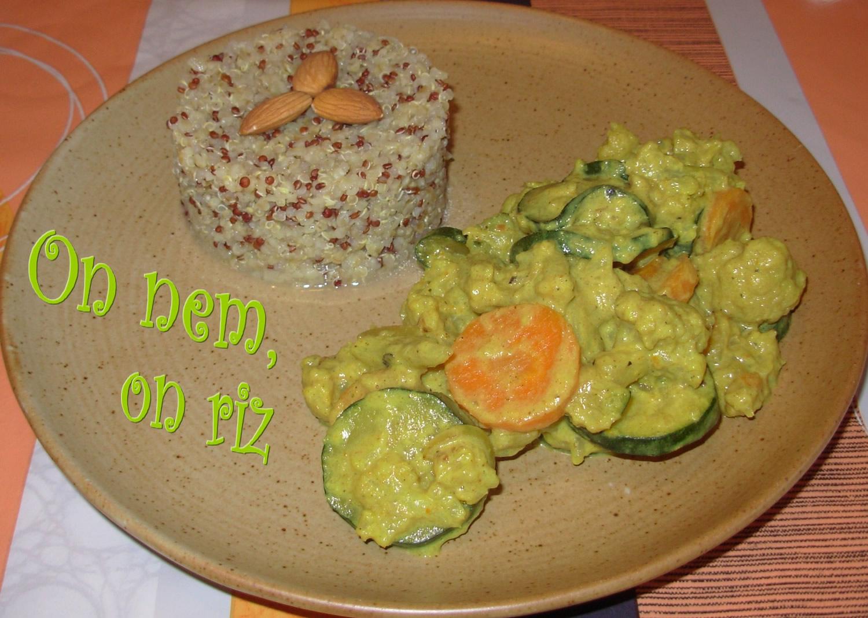 Curry de légumes à l'amande et à la fève tonka