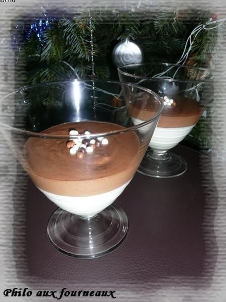 Duo de mousses au Toblerone et au chocolat blanc