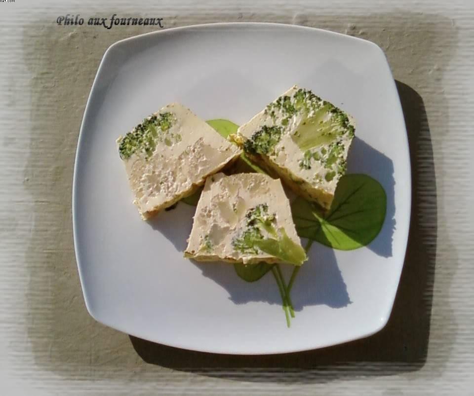 Flan de brocoli et de chou-fleur