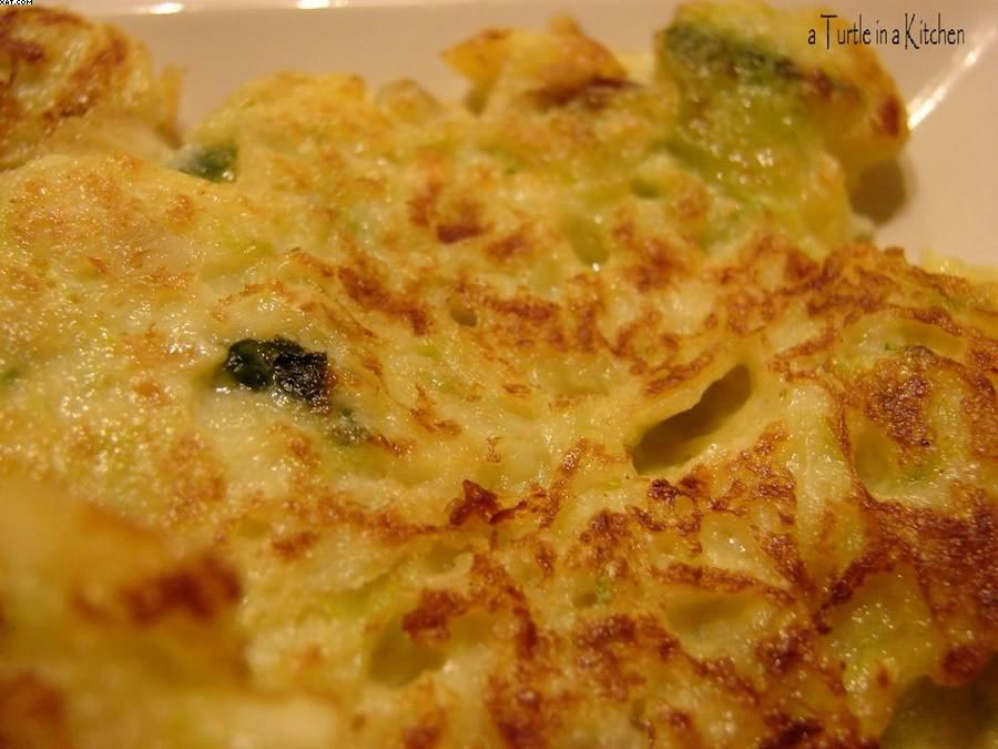 Galettes aux courgettes & parmesan