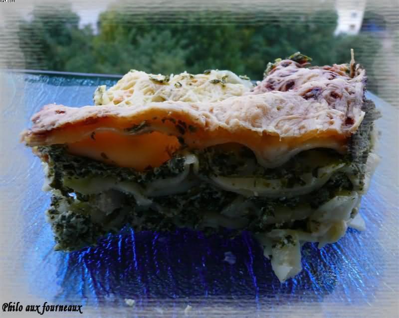 Lasagne aux épinards & ricotta