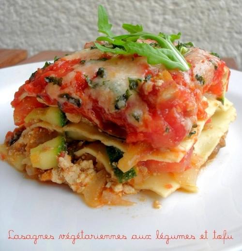 lasagnes v g tariennes aux l gumes tofu lasagnes. Black Bedroom Furniture Sets. Home Design Ideas