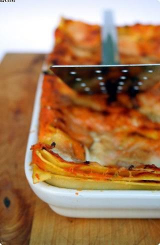 Lasagnes potiron & mozzarella fumée