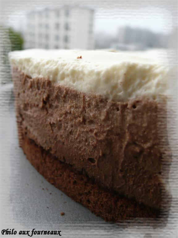 Gâteau trio de chocolat