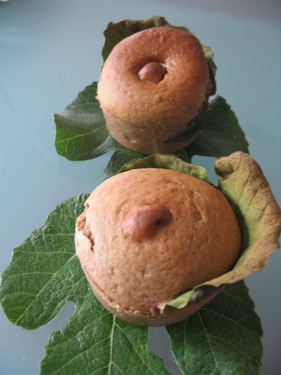 Muffins à la figue et à la farine de châtaigne