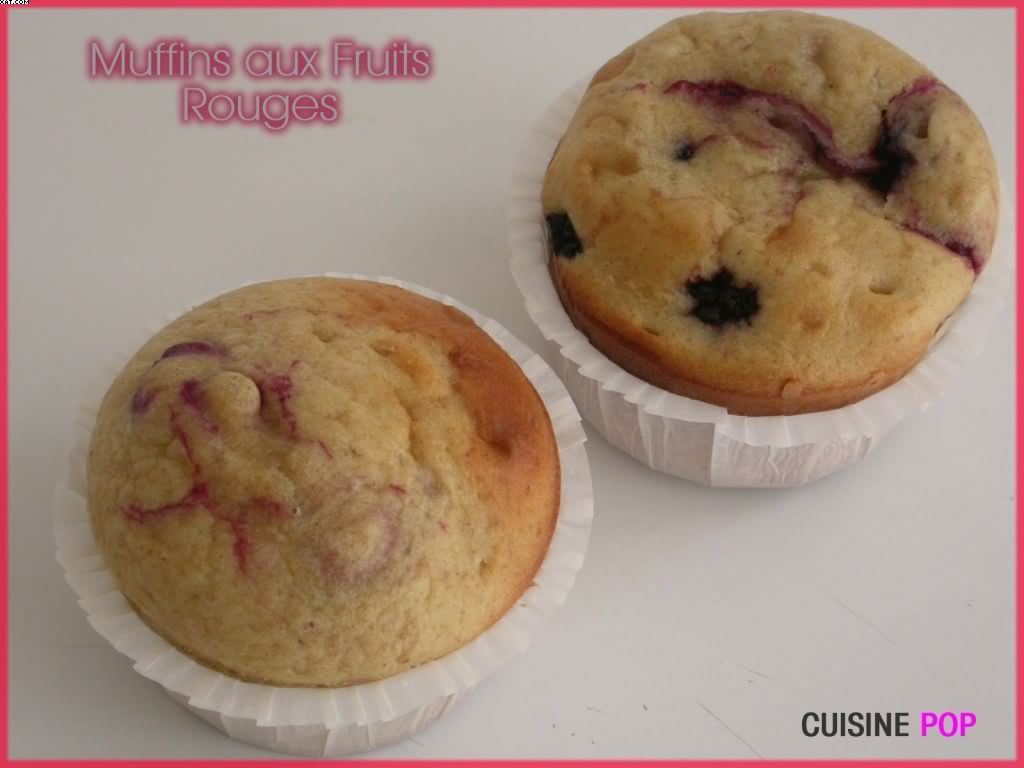 Muffins aux Fruits-rouges
