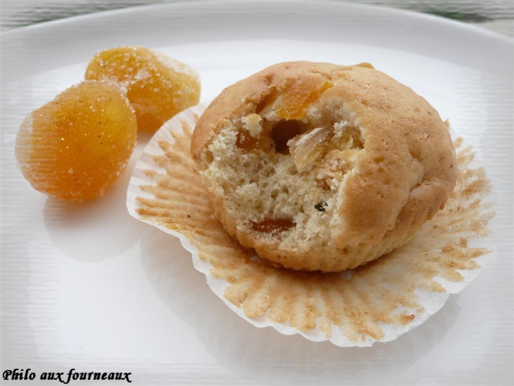 Muffins aux kumquats confits & à la fève Tonka