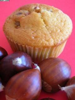 Muffins aux marrons grillés