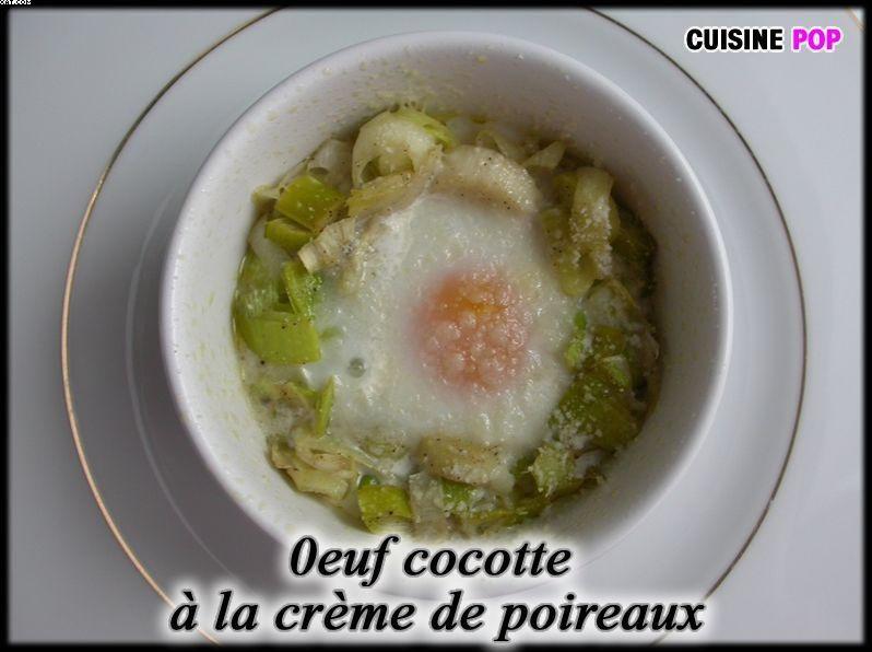 Oeuf Cocotte à la crème de poireaux