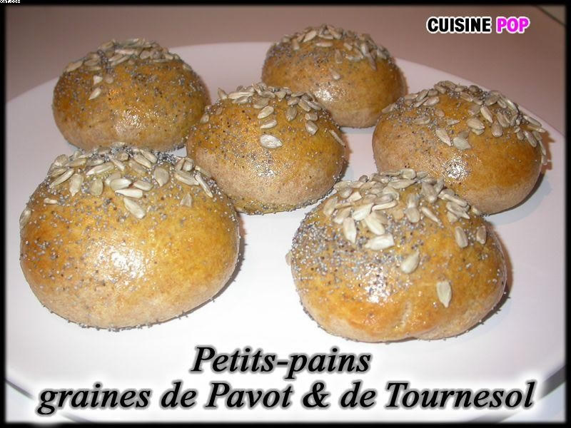 Petits-Pains aux graines de Pavot & de Tournesol