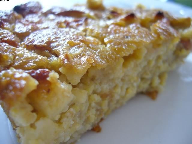Pudding de flocons 5 céréales aux pommes
