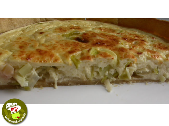 Quiche l g re de poireaux au cumin tartes base de fromage - Tarte aux poireaux legere ...