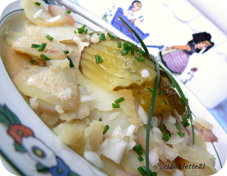 Salade de pomme de terre alsacienne