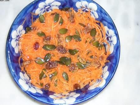Salade de carottes râpées à l'orange