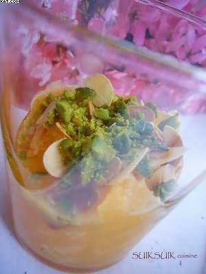 Salade de clémentines, amandes et pistaches