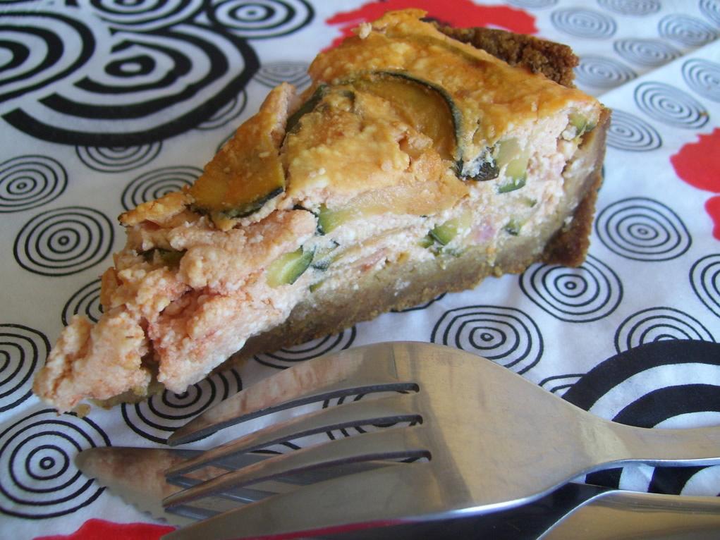 Tarte façon cheesecake aux courgettes et à la brousse