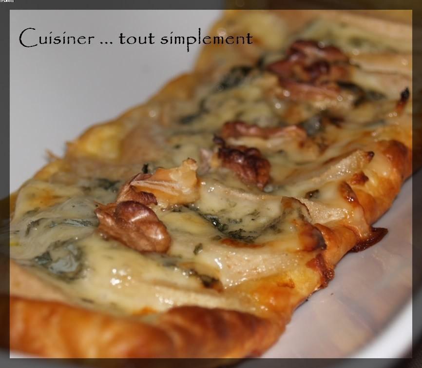 Tartelettes Poire Roquefort Noix