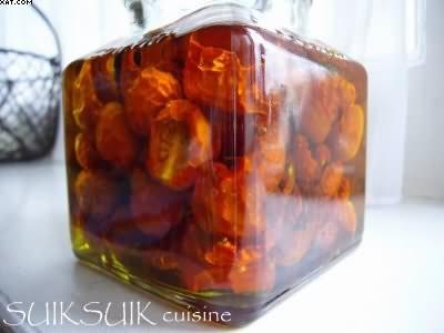 Tomates cerises séchées