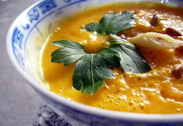 Velouté de carottes à la citronnelle