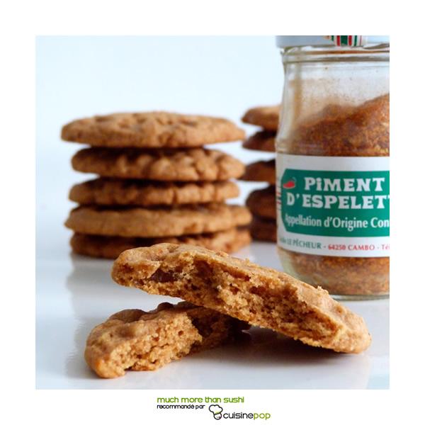 Biscuits au gingembre et piment d'Espelette