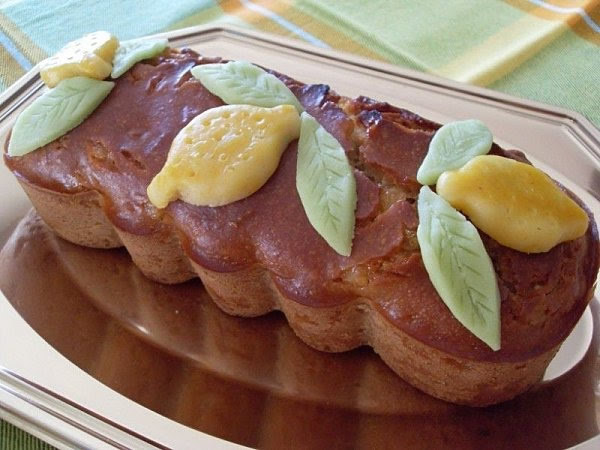 Cake aux citrons confits, amandes (Vegan)