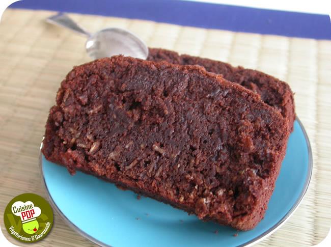 Cake aux flocons d'avoine et au chocolat