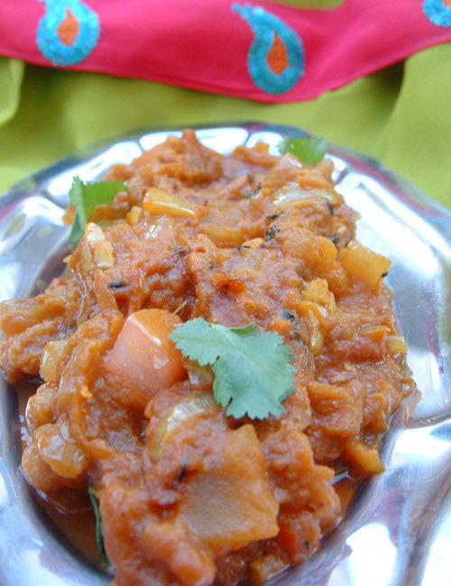 Caviar d'aubergine à l'indienne