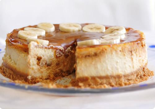Cheese cake bananes et caramel