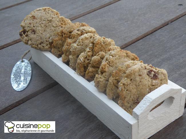 Cookies au muesli sans oeuf et sans beurre