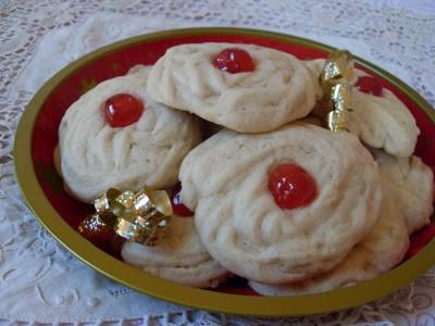 Biscuits de Noël aux cerises confites
