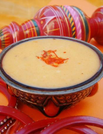 Crème indienne à la mangue