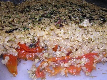Crumble quinoa tomates