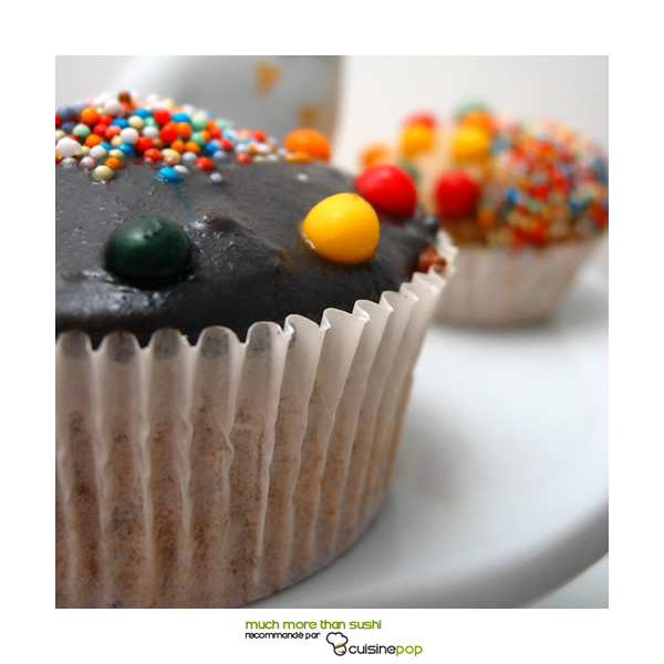 Cupcakes citron et sésame noir